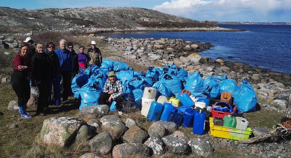 50 säckar plus en massa dunkar och fisklådor blev resultatet.