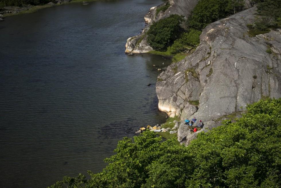 Midsommarpaddling I Stigfjorden