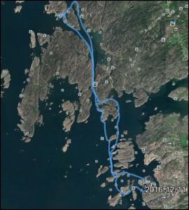 Totalt 16 km blev det
